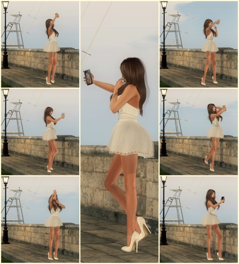 Collage selfie poses